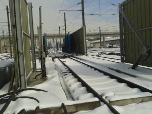 Station antigivre préventif contre l'accumulation de glace et la formation de congère.